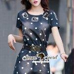 Seoul Secret Say's... Dotty Dotty Denim Dress