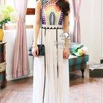 Vivid Bohemian Maxi Dress by Seoul Secret