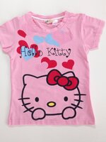 เสื้อยืด สรีนสวย ป้าย H&M ลาย Kitty *ชมพู* 4 ตัว/แพค *ส่งฟรี*