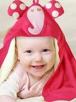 ผ้าขุนหนูการ์ตูนผ้าฝ้าย สีชมพู รูปช้าง เนื้อผ้านิ่มซับน้ำได้ดี สีสันสดใสเหมาะกับคุณหนูๆมากค้ะ