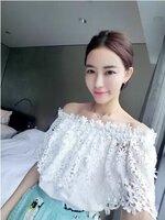 เสื้อแต่งลูกไม้สีขาว สวยสไตล์เกาหลี (ขายส่ง 200.-)