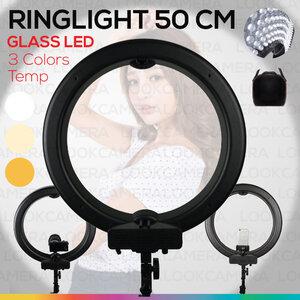 Ring Light LED 50 cm (600 ดวง) ไฟวงแหวน ถ่ายแฟชั่น ถ่ายเซลฟี่ ถ่าย live ถ่ายแบบเพิ่มความสวยงาม ไฟต่อเนื่อง ถ่ายรูป ไฟแต่งหน้า