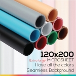 Microsheet 120 x 200 cm เลือกสี แผ่นไมโครชีทฉากหลังถ่ายภาพสินค้า