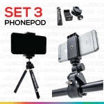 Phonepod (Set3) ขาตั้งกล้องมือถือ ตัวจับถ่ายภาพมุมบน และ ตัวจับมือถือ