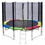สปริงบอร์ดแทรมโพลีน trampoline 10 ฟุต colorful เล่นได้ทุกเพศทุกวัย รับน้ำหนักได้มากถึง 150 kg