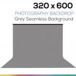 Grey 320 x 600 Photography Backdrop ผ้าฉากหลังสีเทา ตัดต่อ ถ่ายวีดีโอได้