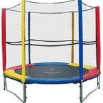 แทรมโพลีน 8 ฟุต สีรุ้ง เสารุ้งl สปริงบอร์ด trampoline เครื่องออกกำลังกายเพิ่มความสูง รับน้ำหนักได้ถึง 150 kg