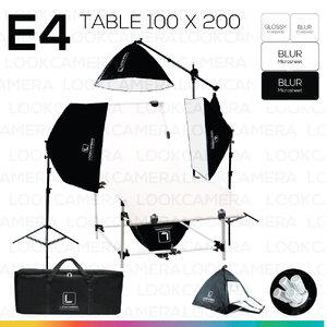 E4 STUDIO TABLE PACKSHOT โต๊ะถ่ายภาพสินค้าปรับองศา 100x200 ซม.